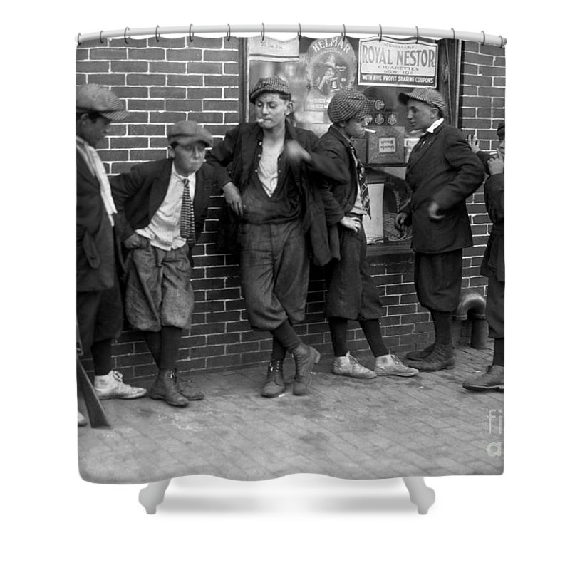 1916 Shower Curtain featuring the photograph Massachusetts: Gang, C1916 by Granger