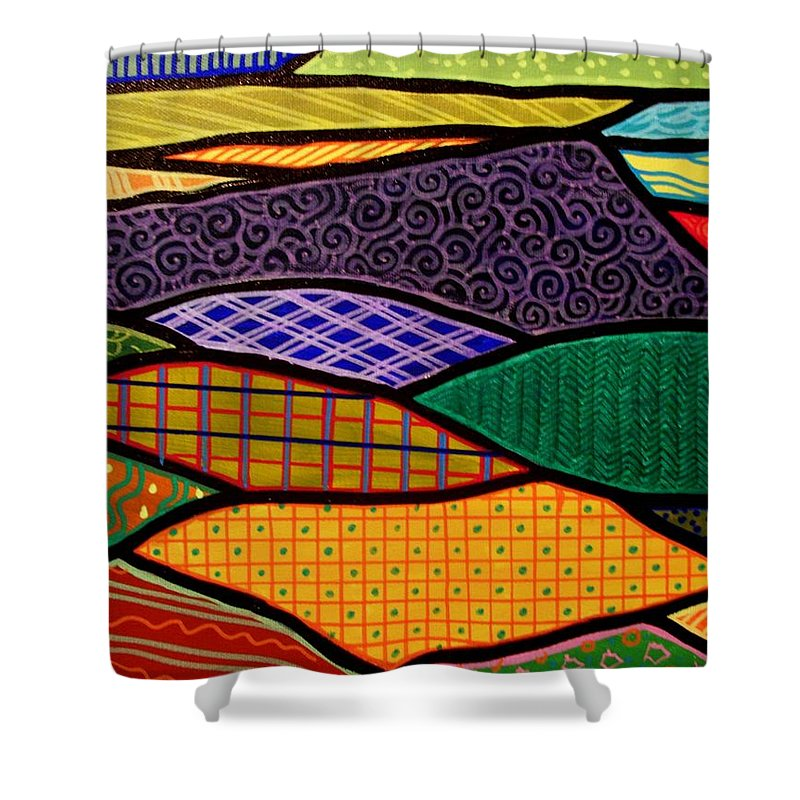 Mountain Shower Curtain featuring the painting Massanutten Sunrise by Jim Harris