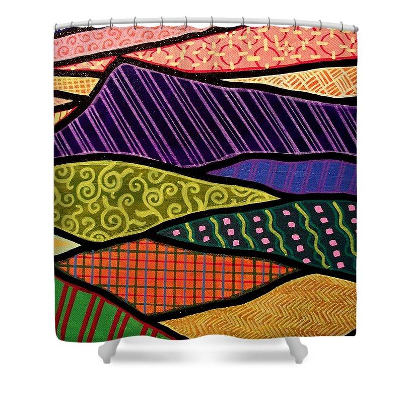 Mountain Shower Curtain featuring the painting Massanutten Sunset by Jim Harris