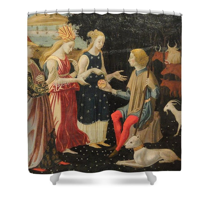 Master Of The Argonaut Panels Ca. 1480 Shower Curtain featuring the painting Master Of The Argonaut Panels by MotionAge Designs