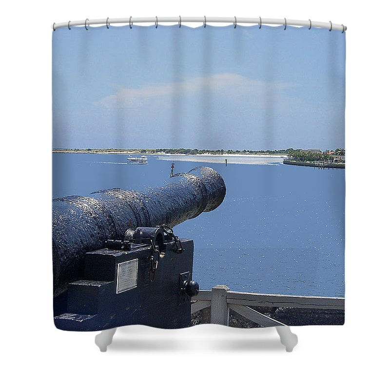 Landscape Shower Curtain featuring the photograph Matanzas Inlet by Kenneth Albin