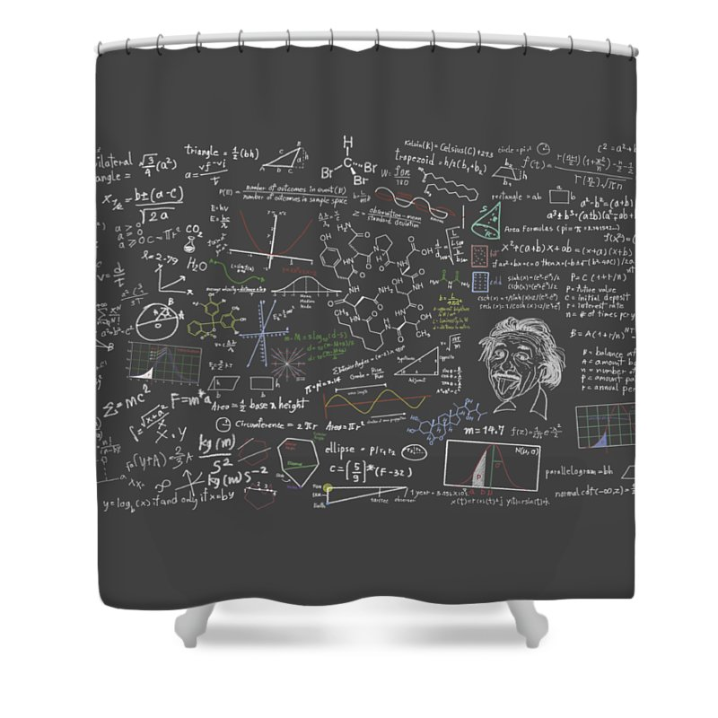 Algebra Shower Curtain featuring the digital art Maths Formula by Setsiri Silapasuwanchai