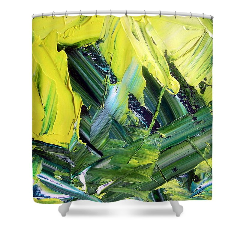 Matter Of Fact Shower Curtain featuring the painting Matter Of Fact by Dawn Hough Sebaugh