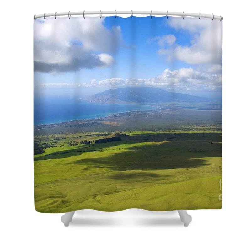 Aerial Shower Curtain featuring the photograph Maui Aerial by Ron Dahlquist - Printscapes