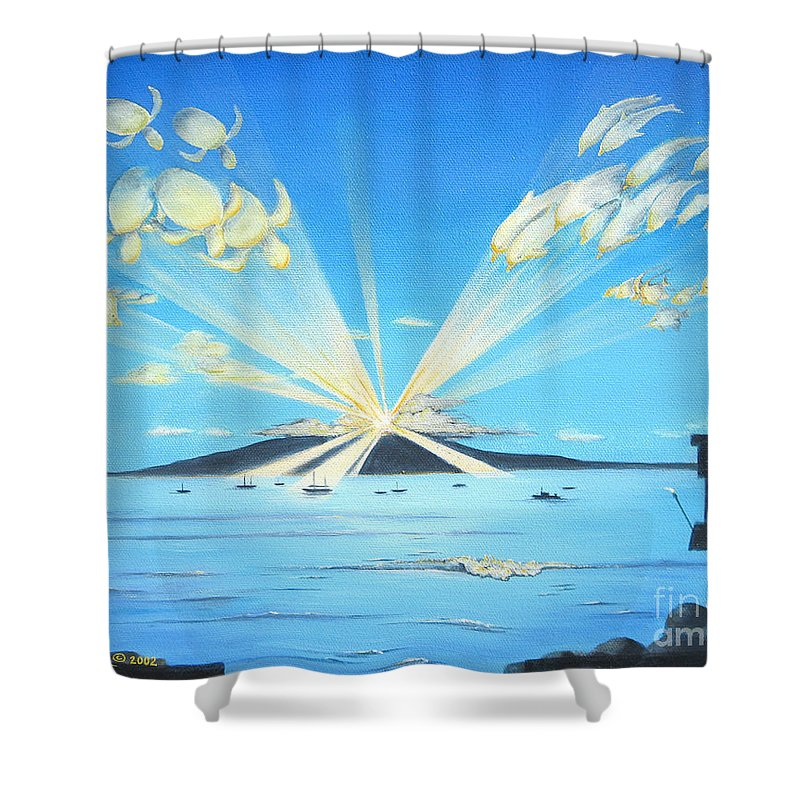 Maui Shower Curtain featuring the painting Maui Magic by Jerome Stumphauzer