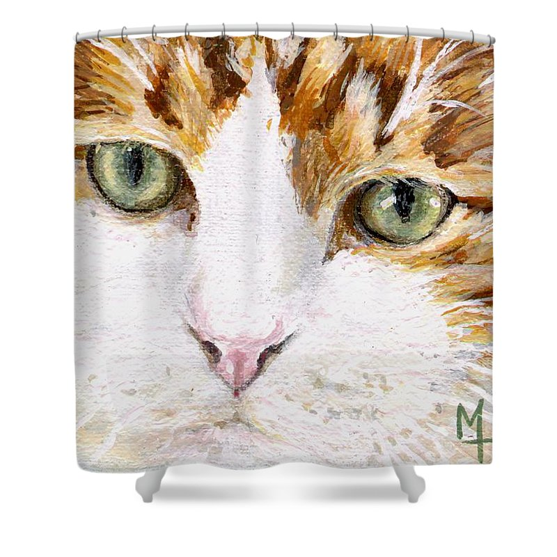 Charity Shower Curtain featuring the painting Max by Mary-Lee Sanders