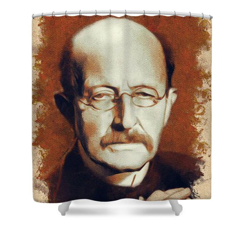 Max Planck Scientist Shower Curtain For Sale By Esoterica Art Agency