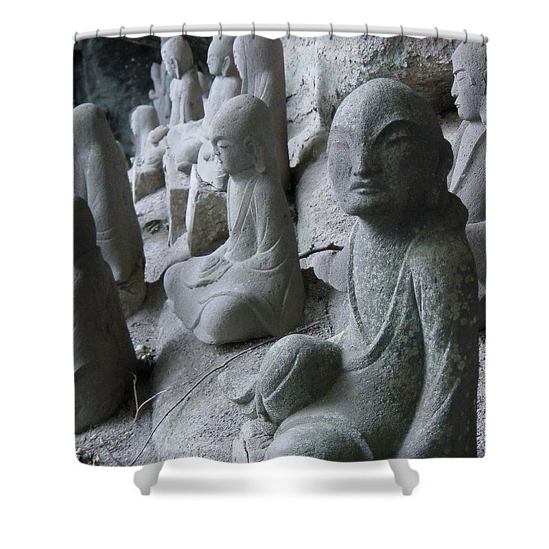 Statues Shower Curtain featuring the photograph May I Help You by D Turner