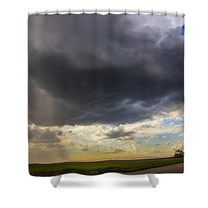 Nebraskasc Shower Curtain featuring the photograph May Nebraska Storm Cells by NebraskaSC