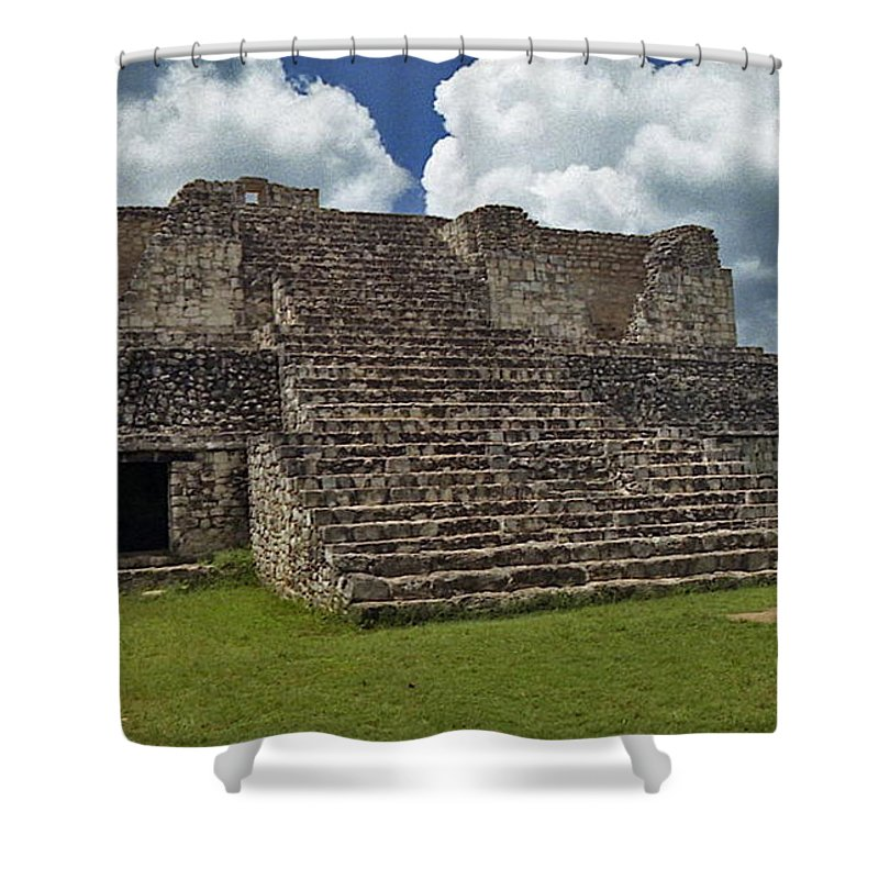 Mayan Shower Curtain featuring the photograph Mayan Ruins 2 by Michael Peychich