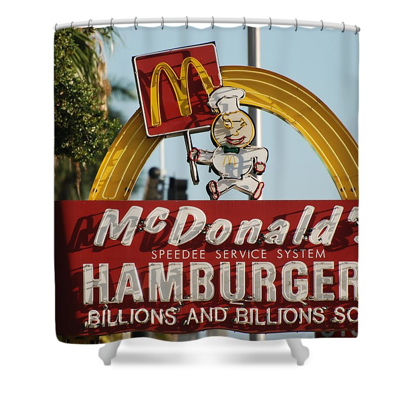 Mcdonalds Shower Curtain featuring the photograph Mc Donalds by Rob Hans