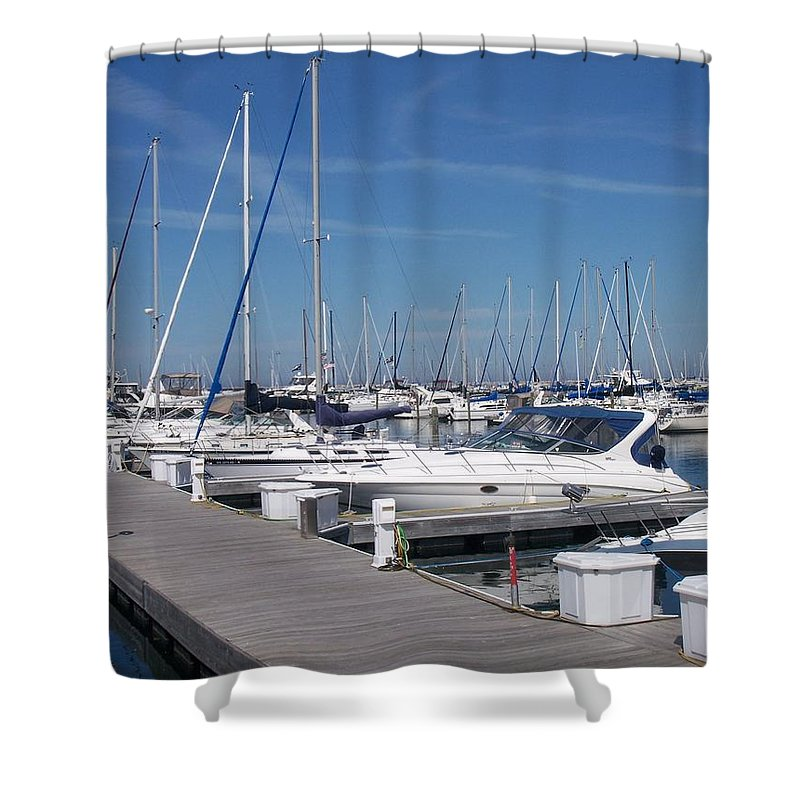 Mckinley Marina Shower Curtain featuring the photograph Mckinley Marina 6 by Anita Burgermeister