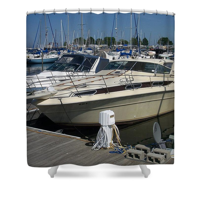 Mckinley Marina Shower Curtain featuring the photograph Mckinley Marina 7 by Anita Burgermeister