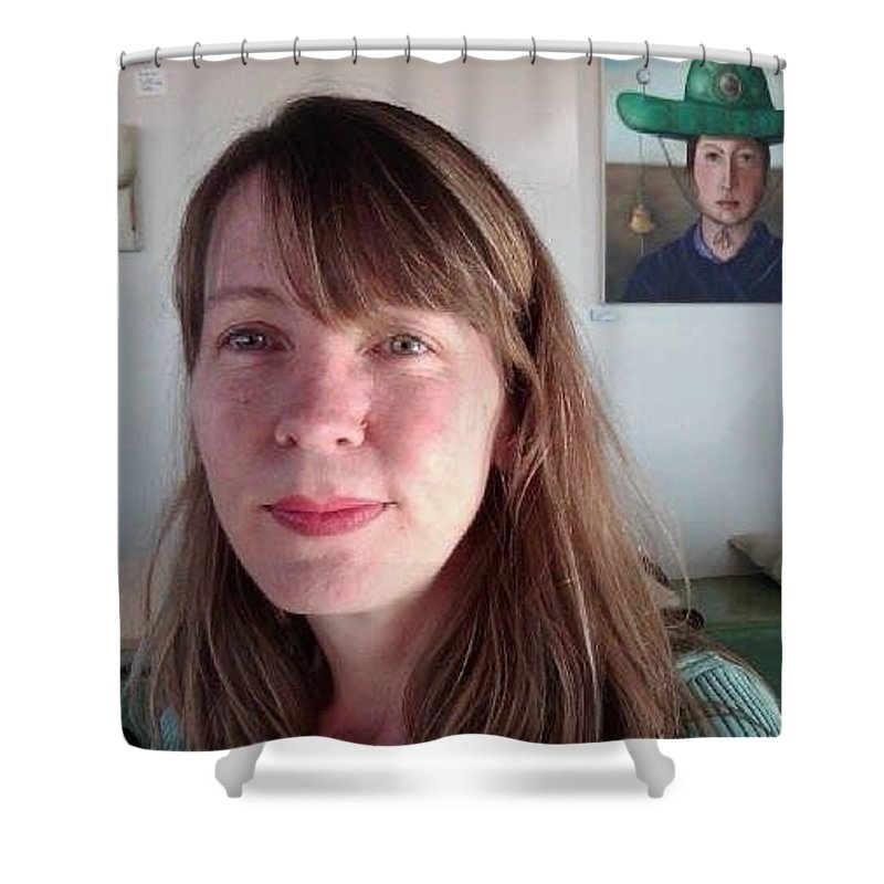 Me Shower Curtain featuring the painting Me by Leah Saulnier The Painting Maniac
