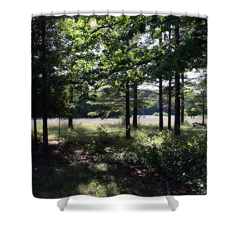 Landscape Shower Curtain featuring the photograph Meadow Beyond by Joanne Coyle