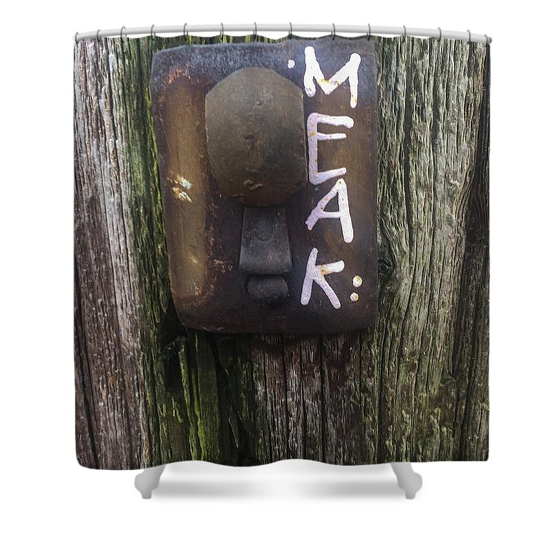 Telephone Pole Shower Curtain featuring the photograph M.e.a.k. by Joseph Yarbrough