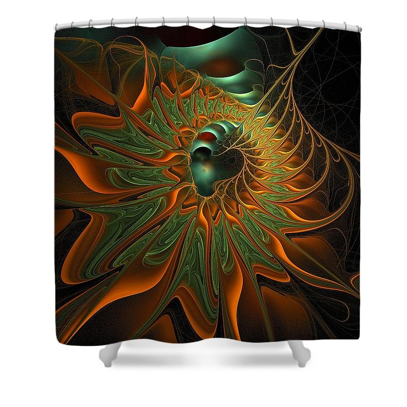 Digital Art Shower Curtain featuring the digital art Meandering by Amanda Moore