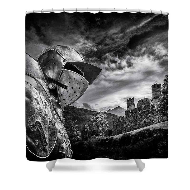 Medieval Shower Curtain featuring the photograph Medieval by Livio Ferrari