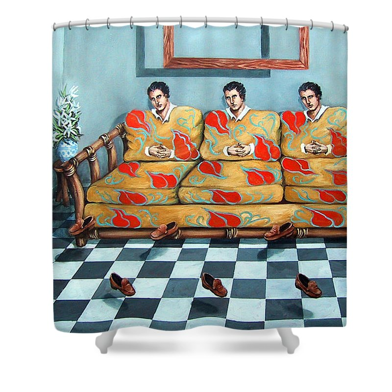S Shower Curtain featuring the painting Meditation by Valerie Vescovi