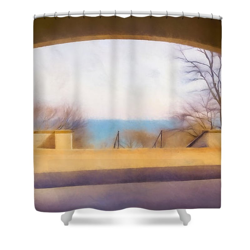 Scott Norris Photography Shower Curtain featuring the photograph Mediterranean Dreams by Scott Norris