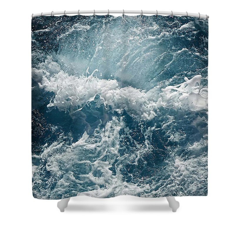Mediterranean Sea Shower Curtain featuring the photograph Mediterranean Sea Art 53 by Richard Rosenshein