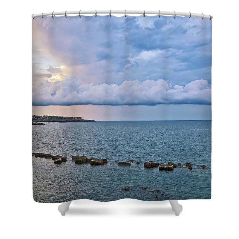 Sea Shower Curtain featuring the photograph Mediterranean View II by Madeline Ellis