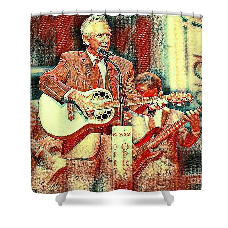 Mel Tillis Famous Country Music Entertainer Shower Curtain featuring the mixed media Mel Tillis Famous Country Music Entertainer by Pd