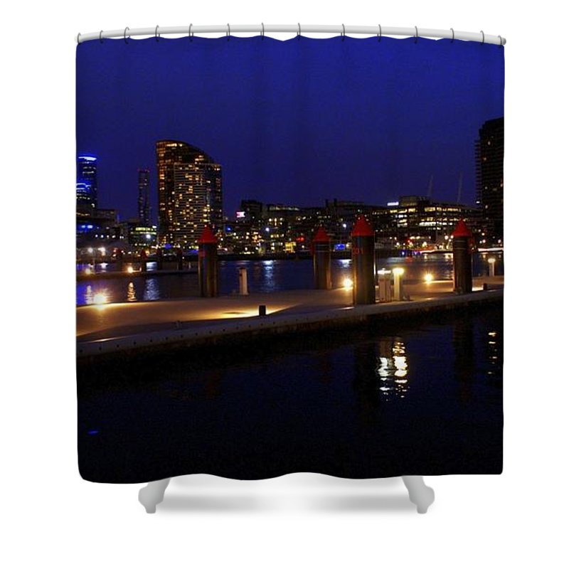 Melbourne Shower Curtain featuring the photograph Melbourne by Kathryn Potempski