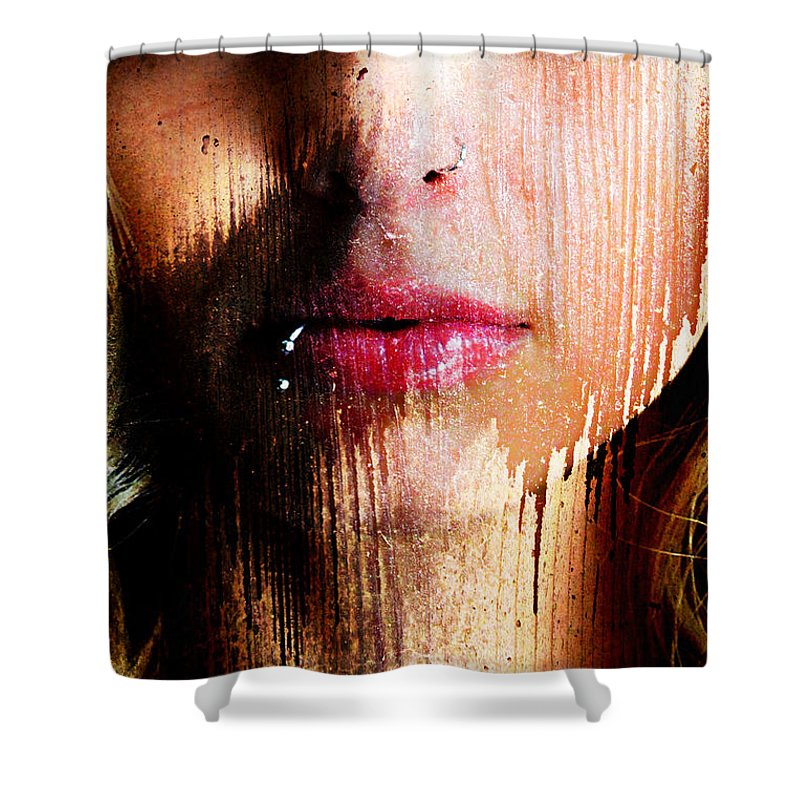 Face Closeup Abstrace Shower Curtain featuring the photograph Melissa Face by Bill Munster