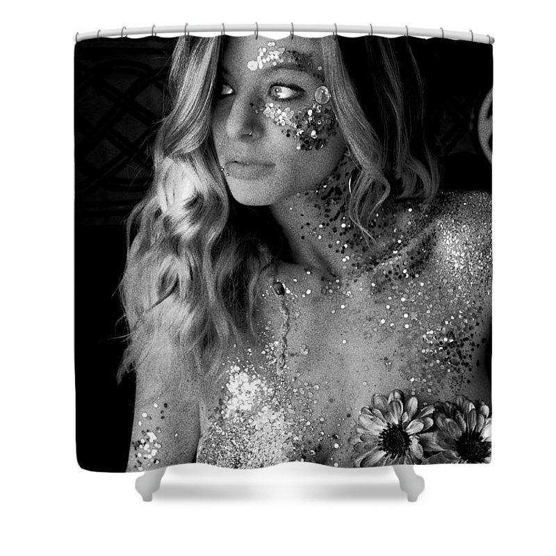 Melissa Sparkles Shower Curtain featuring the photograph Melissa Sparkles by Bill Munster