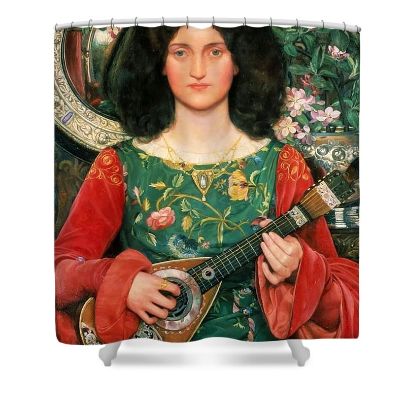 Kate Elizabeth Bunce - Melody Ca. 1895-97 Shower Curtain featuring the painting Melody by MotionAge Designs