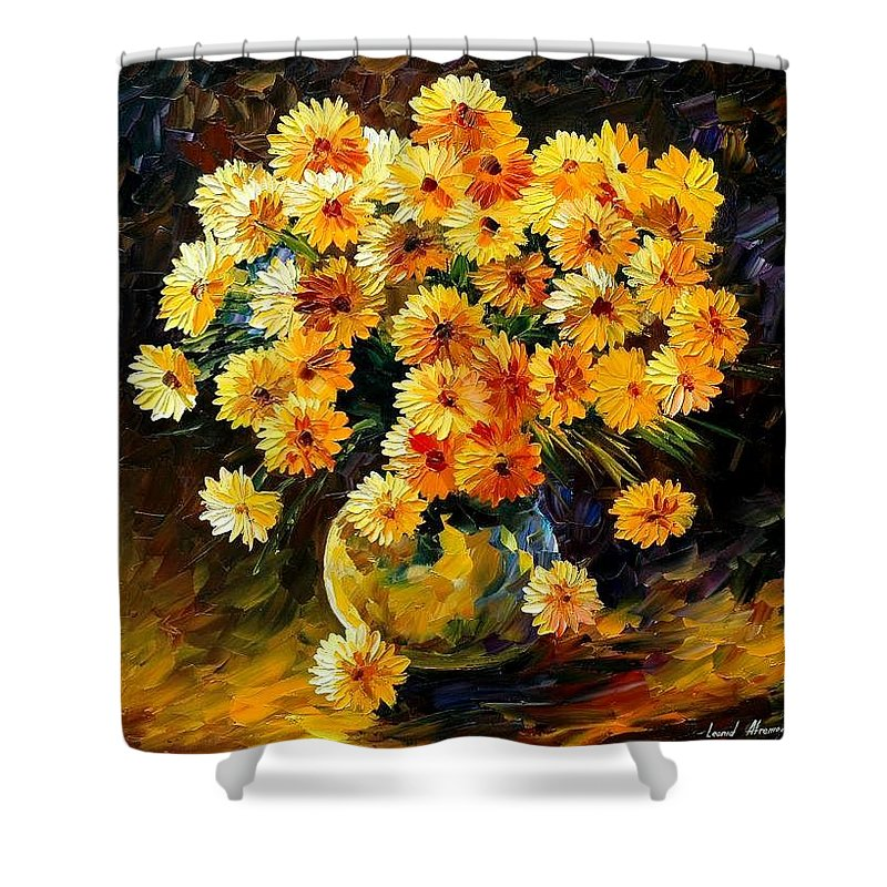 Still Life Shower Curtain featuring the painting Melody Of Beauty by Leonid Afremov