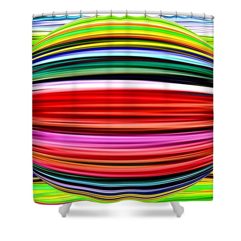 Abstract Shower Curtain featuring the digital art Melon Mania by Will Borden