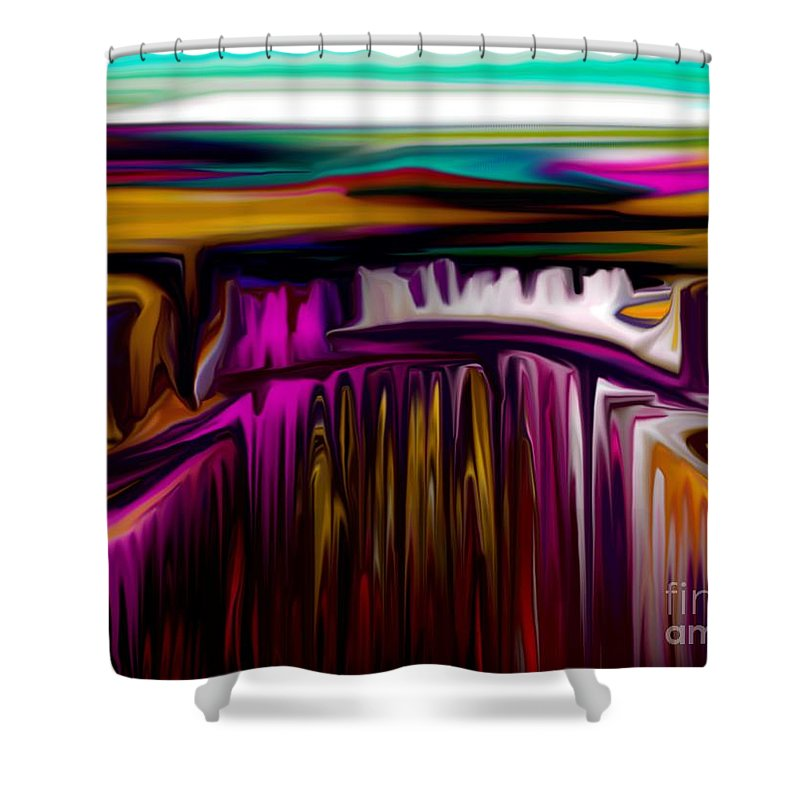Abstract Shower Curtain featuring the digital art Melting by David Lane