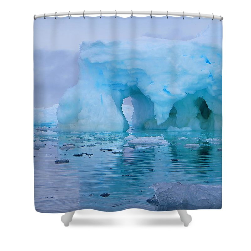 Iceberg Shower Curtain featuring the photograph Melting Iceberg by Harry Coburn