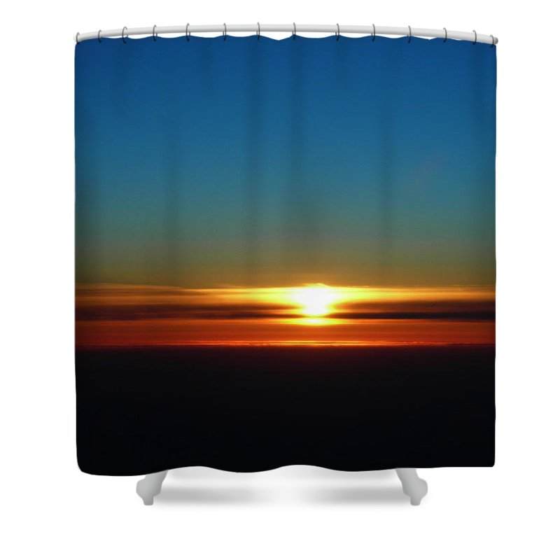 Landscape Shower Curtain featuring the photograph Melting Line by Anna Duyunova