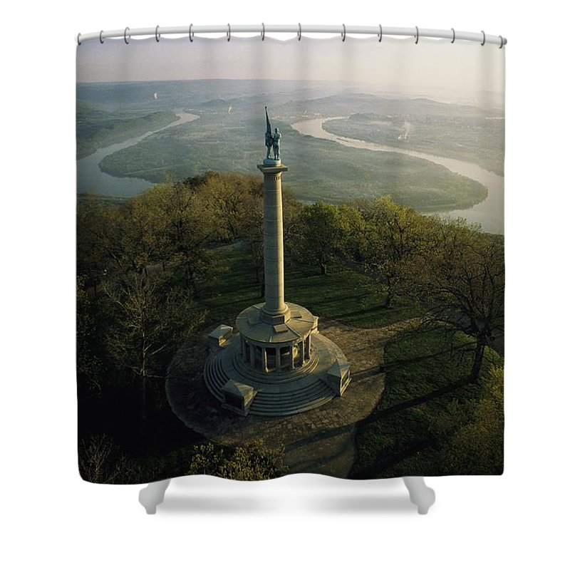 North America Shower Curtain featuring the photograph Memorial To The Battle Of Chattanooga by Sam Abell