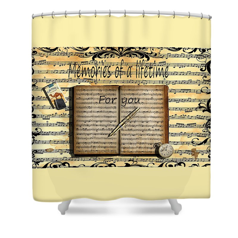 Shower Curtain featuring the digital art Memories 5 by Sonia Ferentinou