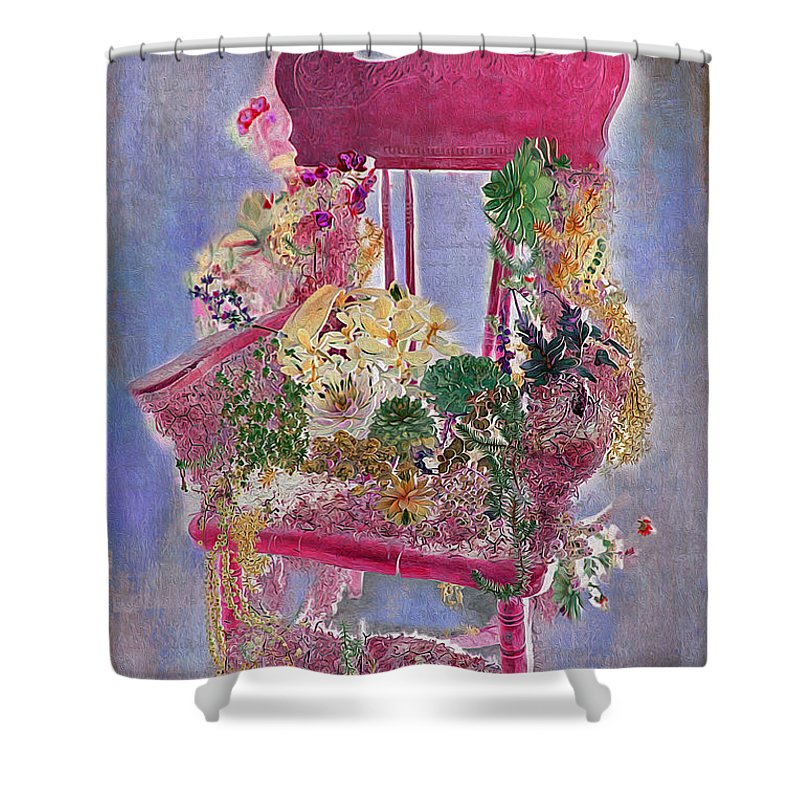 Flowers Shower Curtain featuring the photograph Memories Of Grandmother's Garden by Nina Silver