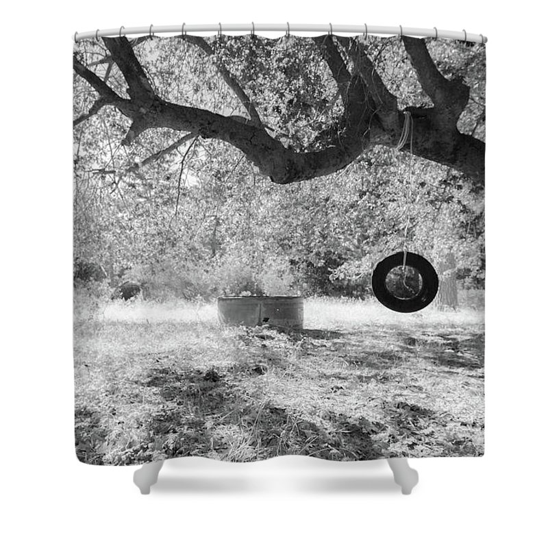 Tire Swing Shower Curtain featuring the photograph Memories by Scott Campbell
