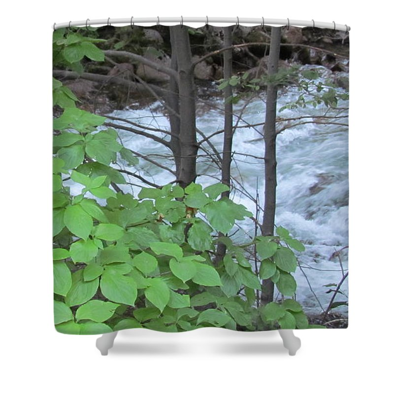 Merced River Shower Curtain featuring the photograph Merced In Yosemite by Derek Ryan Jensen