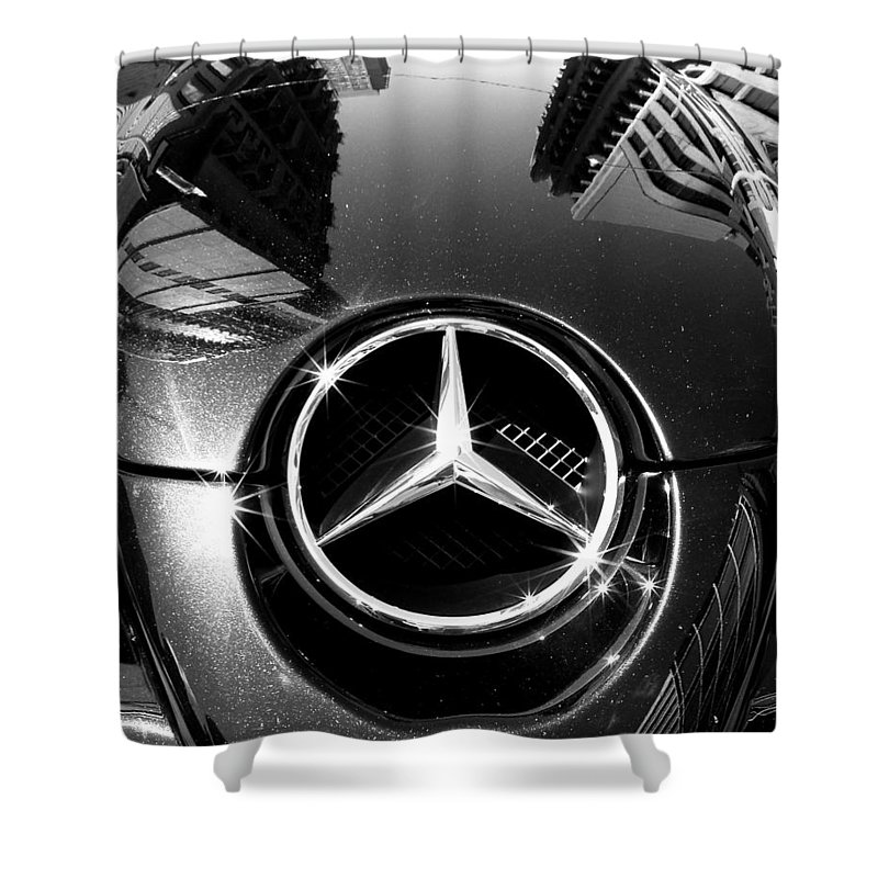 Mercedes Benz Shower Curtain featuring the photograph Mercedes Maclaren by Andrew Fare