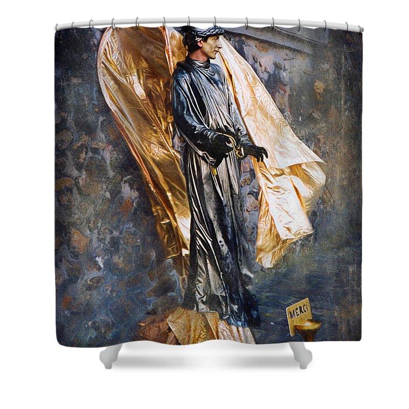 Paris Shower Curtain featuring the photograph Merci Sacre Coeur Paris France by Gary Nelson