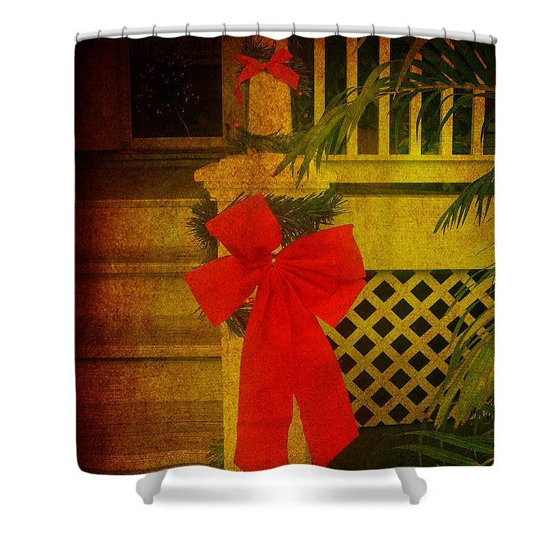 Christmas Shower Curtain featuring the photograph Merry Christmas To You by Susanne Van Hulst