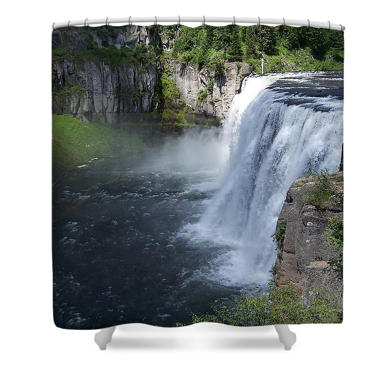 Landscape Shower Curtain featuring the photograph Mesa Falls by Gale Cochran-Smith