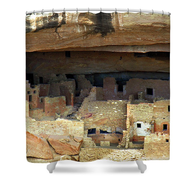 Americana Shower Curtain featuring the photograph Mesa Verde by Marilyn Hunt