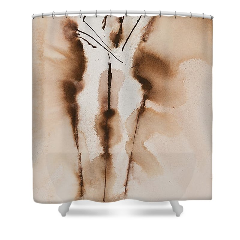 Ilisa Millermoon Shower Curtain featuring the painting Mesh II His Divine Love Series No. 1285 by Ilisa Millermoon