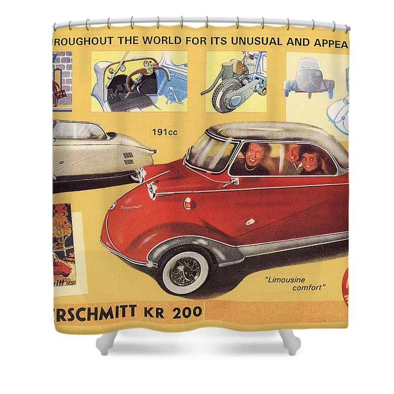 Messerschmitt Shower Curtain featuring the digital art Messerschmitt by Maye Loeser