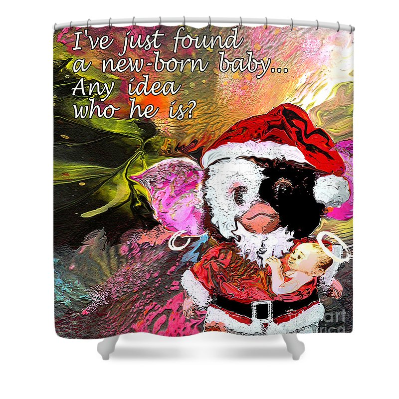Fantasy Painting Shower Curtain featuring the painting Messiah Found by Miki De Goodaboom