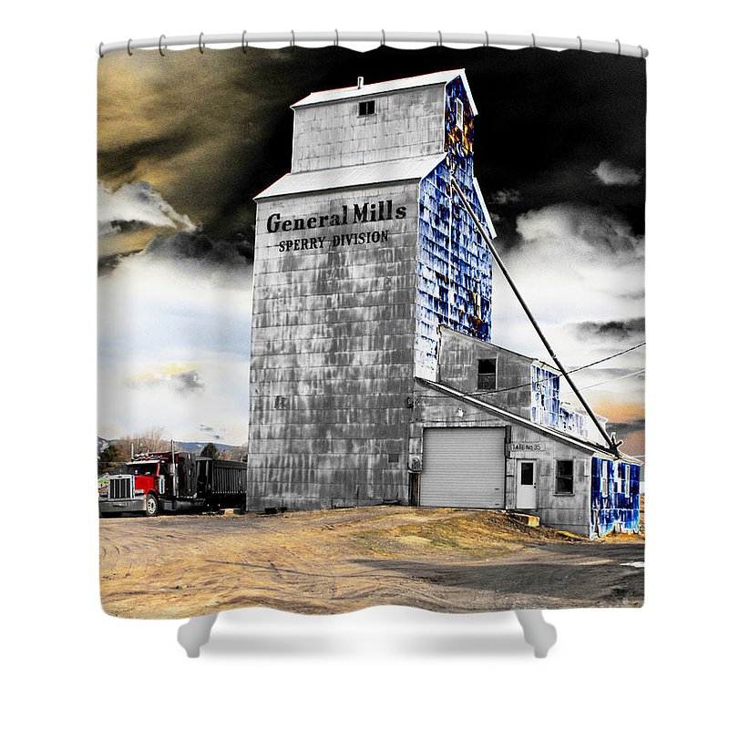 Barn Shower Curtain featuring the photograph Metal Barn by Rebecca Margraf